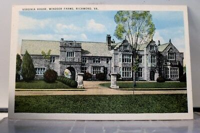 Virginia VA Richmond Windsor Farms House Postcard Old Vintage Card View Standard