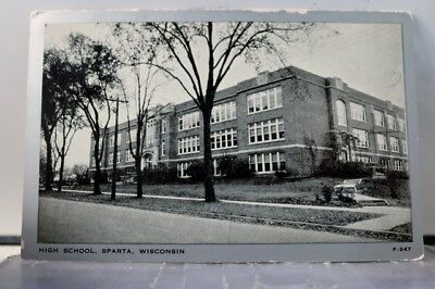 Wisconsin WI Sparta High School SHS Postcard Old Vintage Card View Standard Post