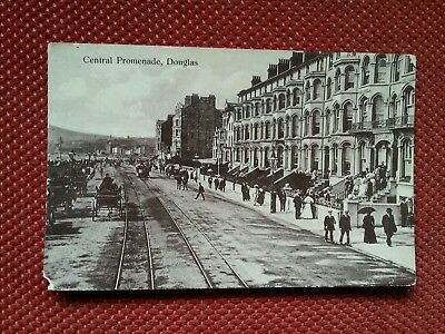 RP 1914 Westlakes Hotel Central prom Douglas Isle of Man IOM Manx real photo