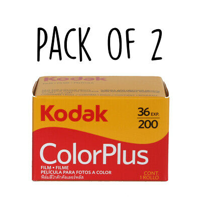 Kodak Color Plus 36 exp, 35mm ISO 200 Film, HIGH QUALITY, 2 Rolls, Colour