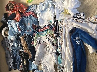 Huge bundle autumn/winter baby boy clothes age 3-6 months (40 plus items)