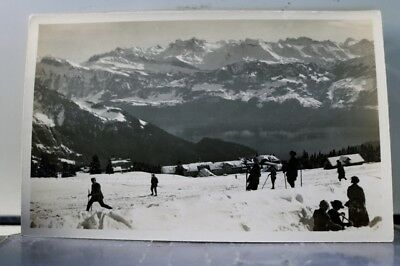Switzerland Rigi Kaltbad Urirotstockkette Postcard Old Vintage Card View Post PC