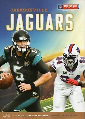 Buffalo Bills v Jacksonville Jaguars 25 Oct 2015 NFL Programme @ Wembley Stadium