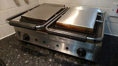 Apollo 2.9kW Electric Commercial Double Contact Panini Grill Toaster Sandwich