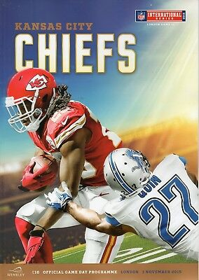 Detroit Lions v Kansas City Chiefs 1St Nov 2015 NFL Programme @ Wembley Stadium