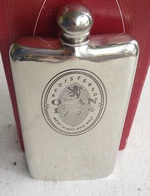 VINTAGE 6oz OBAN SHEFFIELD PEWTER HANDMADE FLASK BOTTLE/MADE IN ENGLAND