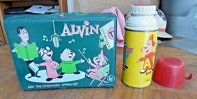 1963 Alvin & Chipmunks vinyl lunchbox & thermos