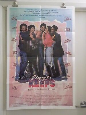 PLAYING FOR KEEPS one 1 sheet movie poster PETE TOWNSHEND JULIAN LEMMON 1986 ori