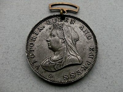 Medallion-Victoria Queen & Empress.To Commemorate The 60th Year Of Her Reign.