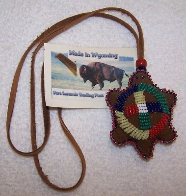 Hand Made Beaded Turtle Amulet Rendezvous Black Powder Mountain Man 08