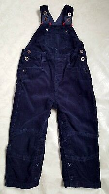 john lewis navy lined cord dungarees 18-24 months