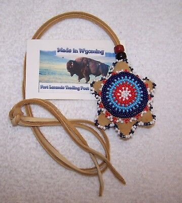Hand Made Beaded Turtle Amulet Rendezvous Black Powder Mountain Man 09