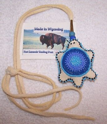 Hand Made Beaded Turtle Amulet Rendezvous Black Powder Mountain Man 10
