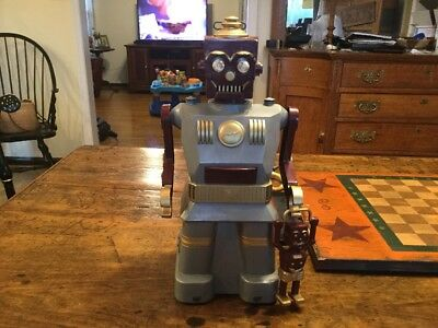 MARX Electric ROBOT and SON with BOX  VERY RARE  COLOR VERSION.