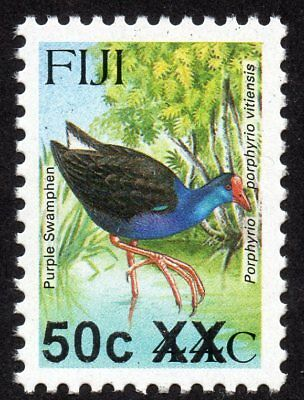Fiji Birds new overprint 50c XX on 44c MNH