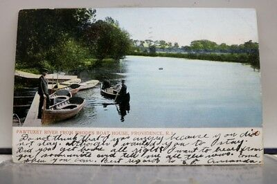 Rhode Island RI Providence Rhodes Boat House Pawtuxet River Postcard Old Vintage