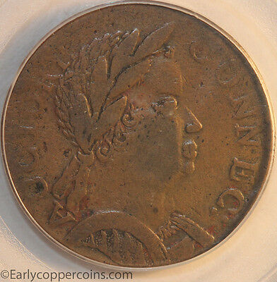1785 Connecticut African Head M4.1-F.4 W2355 PCGS VF35 Starts 1C NO RESERVE!