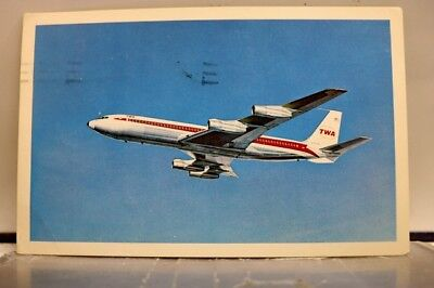 Ad Trans World Airlines Airplane Jet Plane TWA Postcard Old Vintage Card View PC