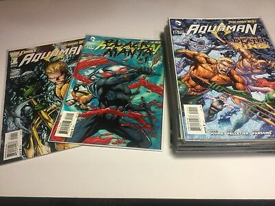 Aquaman 0, 1-25 New 52 Johns First Prints
