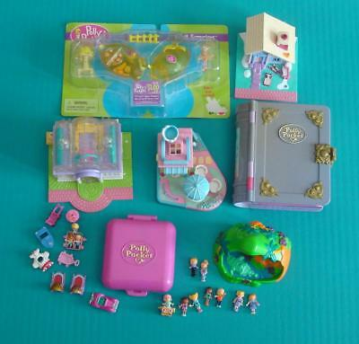 Polly Pocket Lot Bluebird Toys Figures Compacts Cases