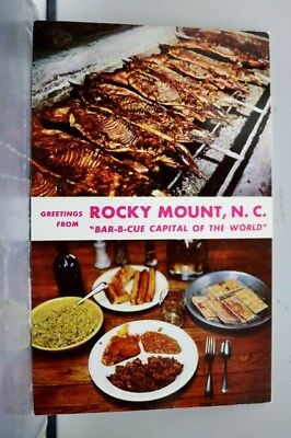 North Carolina NC Rocky Mount Greetings Barbeque Capital Postcard Old Vintage PC