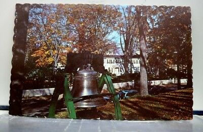 Maine ME Augusta Liberty Bell Reproduction Postcard Old Vintage Card View Post