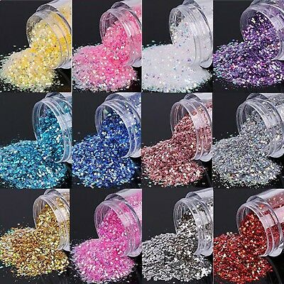 Fine & Chunky Glitter Mix - Festival Makeup Face Nail Body 5 gram Pot - 250 Cols
