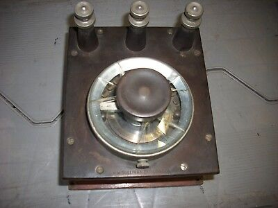 Old Wooden Case Rotary Dial Resistance Shunt