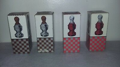 Vintage Collectible Avon The Pawn II Chess 3 Oz  Bottle - FULL - LOT OF 4