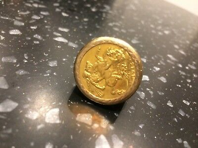 1915 Gold Sovereign In Gold Ring
