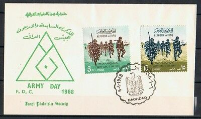 IRAQ , IRAK FDC 6.1.1968 Baghdad ARMY DAY