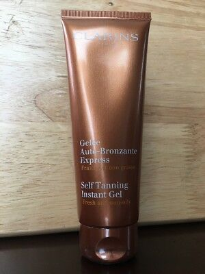 New & SEALED*CLARINS Self Tanning Instant GEL*Face & Body*FULL SIZE*4.5oz/125mL!