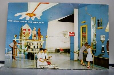 Disneyland Monsanto Chemical Company Hall of Chemistry Postcard Old Vintage Card