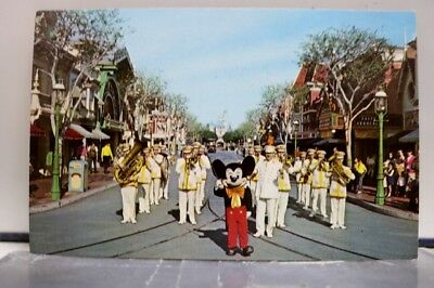 Disneyland Mickey Mouse Band Postcard Old Vintage Card View Standard Souvenir PC