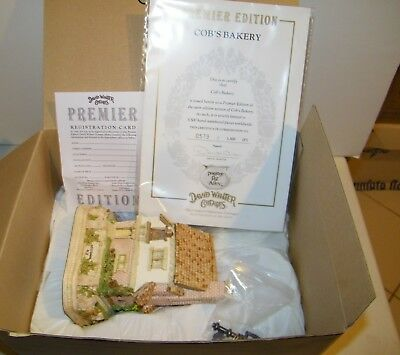 David Winter Cottages Cob's Bakery New With COS And All Papers In Box 1994 L.E.