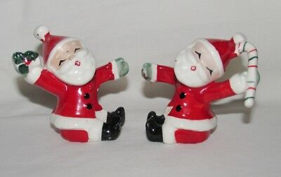 Vintage 1957 Christmas NAPCO Santa Candle Holders Japan 1