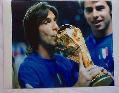 Andrea Pirlo Signed ITALY FIFA WORLD CUP 2006 16X12 Photograph With COA