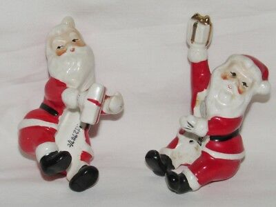 Vintage Christmas NAPCO Santa Candle Holders Japan 2