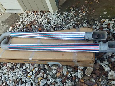 Vintage Rare Thrush side pipes  red white and blue, AMX , AMC Javelin