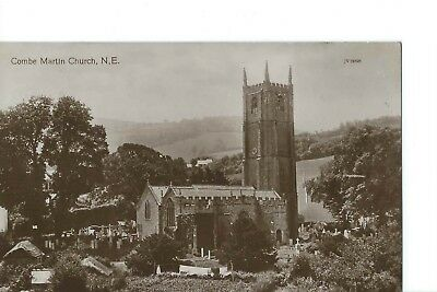 Vintage Sepia Postcard of Combe Martin Church, N. Devon - Posted Ilfracombe1913