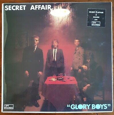 Secret Affair Glory Boys Original UK Vinyl LP Mod I-SPY 1 PRINTED INSERT