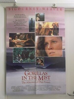 GORILLAS IN THE MIST one sheet movie poster printed on both sides SIGOURN WEAVER
