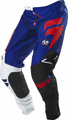 Shift MX 2016 Mens Faction Pants - White / Red Motocross Offroad Enduro Trail