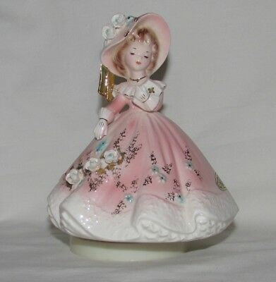 "Vintage Josef Originals ""Amazing Grace"" Musical Figurine of a Girl with Bible"