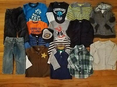 HUGE Gymboree Star Brights 2T Toddler Boys Fall Lot Shirts Hoodie Sweaters Jeans