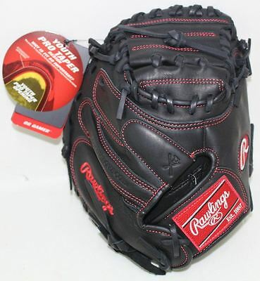 "BNWT RAWLINGS GCM32PTB Gamer Pro Taper 32"" Youth Baseball Black Catchers Mitt"