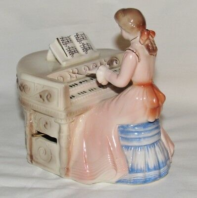 Vintage Josef Originals Girl Playing the Organ Pianist Classical Touch Series