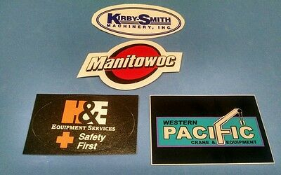 MANITOWOC Dealers H&E KIRBY SMITH WESTERN PACIFIC Crane Union Hardhat Stickers