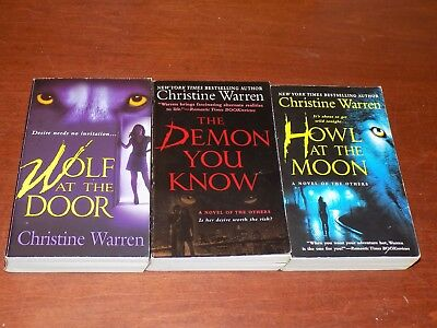 Lot of 3 Christine Warren books PB Novels of The Others - paranormal