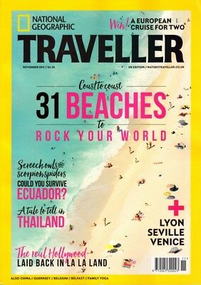 National Geographic Traveller Magazine November 2017 Ecuador, Thailand, Hollywoo